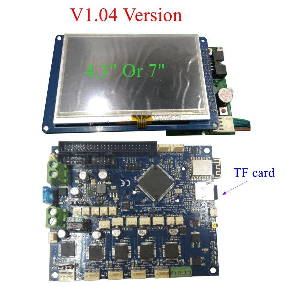 Новейшая V1.04 Duet 2 Wifi обновления плата управления DuetWifi 32bit материнская плата с 4,3 дюймов/7 дюймов PanelDue сенсорный экран управления ler