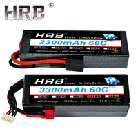 HRB 3300mah Hardcase Lipo Battery 2S 7.4V 3S 11.1V 4S 14.8V 5S 18.5V 6S 22.2V 60C T Deans Hard Case RC Airplane Truck Cars Parts
