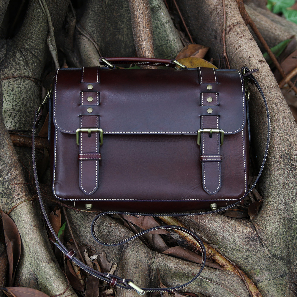 Hand-made First Layer Cowhide Bussiness Men Rivet Brown Handbags Genuine Leather Casual Totes Man Black Handbag Messenger Bags managing projects made simple