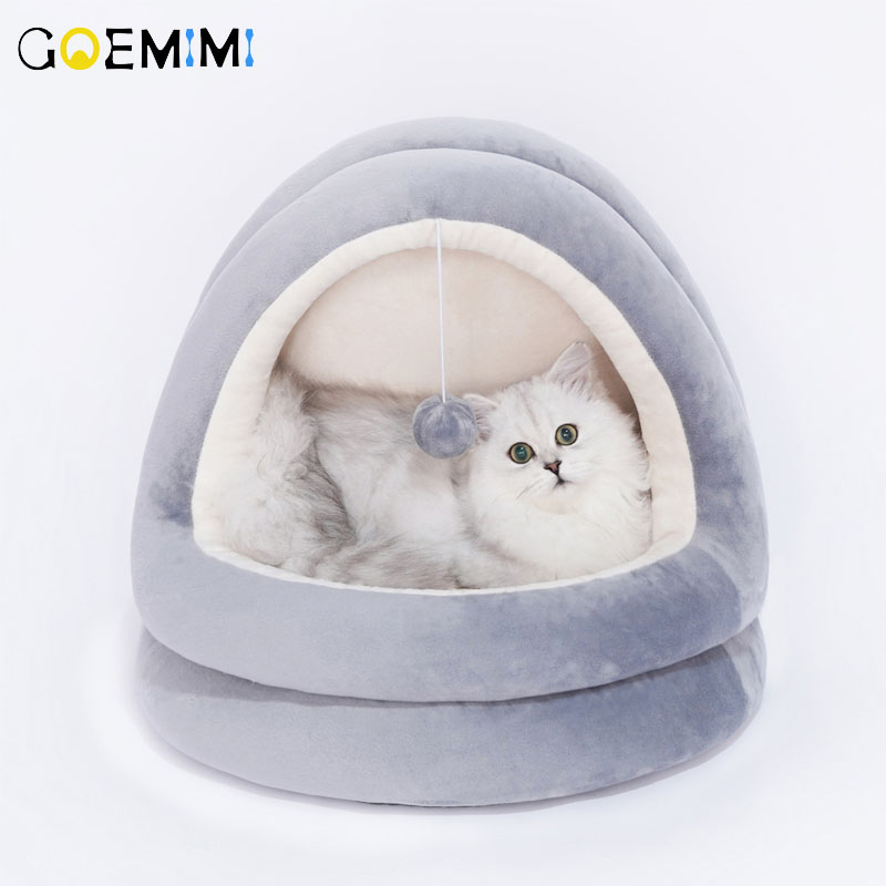 Soft Warm Winter Cat Dog Bed House Animal Puppy Cave Sleeping Mat Pad Nest Kennel Pet