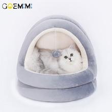 Мягкая теплая зимняя кошка собачья Лежанка животное щенок пещера коврик для сна гнездо питомник товары для домашних животных, собаки кошка кровать дом