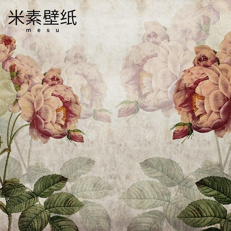 2017 Papel De Parede Fashion Special Offer Yuan/roll Photo Wallpaper Papier Peint Papel Pintado Rice Bedroom Custom Garden Rose 63 rose de mai