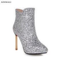 2017 bassiriana новые замшевые Модные женские ботильоны модная обувь Острый носок высокий квадратный каблук Botas Mujer Botte Femme