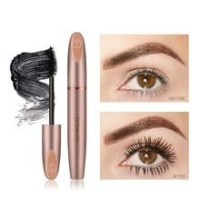 2018 Makeup Silk Fiber Lash Mascara Waterproof Mascara Eyelash Extension Black Thick Lengthening Eye Lashes Cosmetics недорого