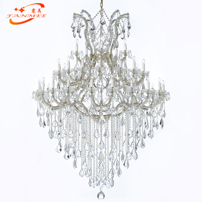Classic Crystal Chandelier Lighting Maria Theresa Crystal Chandelier Light LED Classical Hotel Restaurant Hanging Light