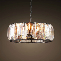 American Style Retro Classical LED Crystal Chandelier Nordic Personality Living Room Bedroom Restaurant Luxury Villa Hotel