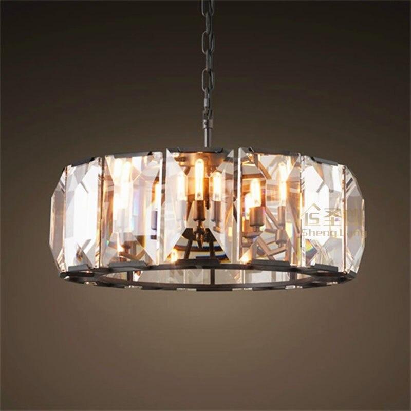 US $421.52 56% di SCONTO|Americani in stile retrò classico led lampadario  di cristallo nordic personalità soggiorno camera da letto lampada  ristorante ...