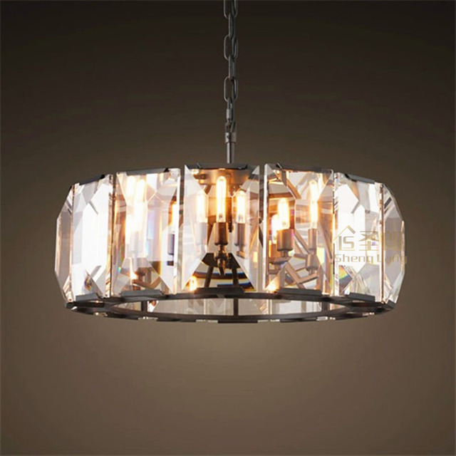 Americani in stile retrò classico led lampadario di cristallo ...