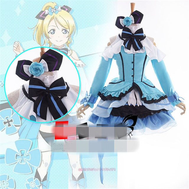 LoveLive Eli Ayase Kira-Kira Sensation Halloween Night Party Cosplay  Costume O
