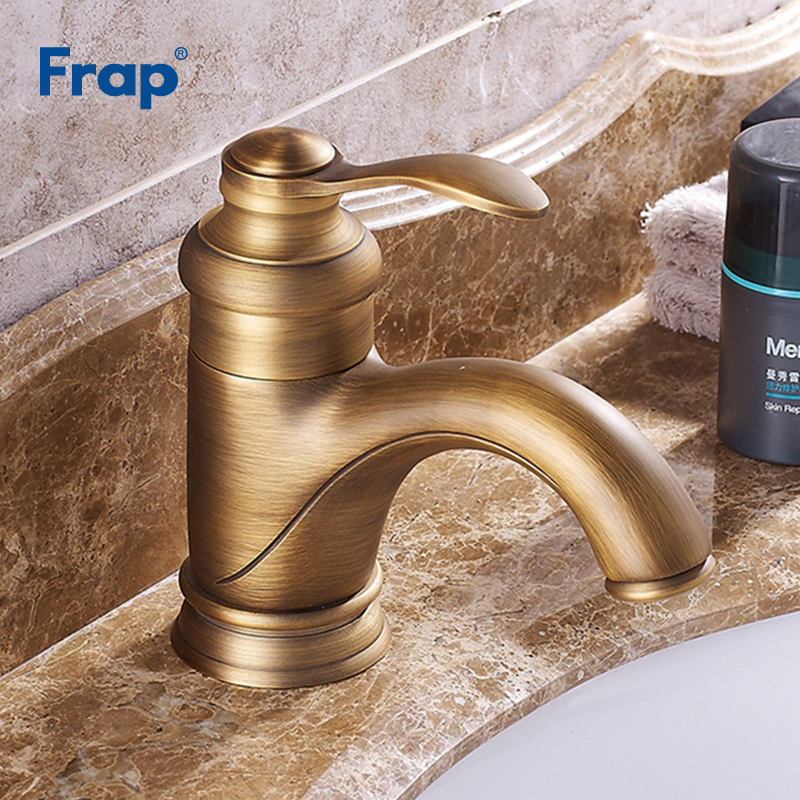 Frap New Antique Brass Faucet Stream Spout Tap Bathroom Basin Sink Faucet Solid Brass Hot & Cold Water Mixer Vanity Sink Y10069Frap New Antique Brass Faucet Stream Spout Tap Bathroom Basin Sink Faucet Solid Brass Hot & Cold Water Mixer Vanity Sink Y10069