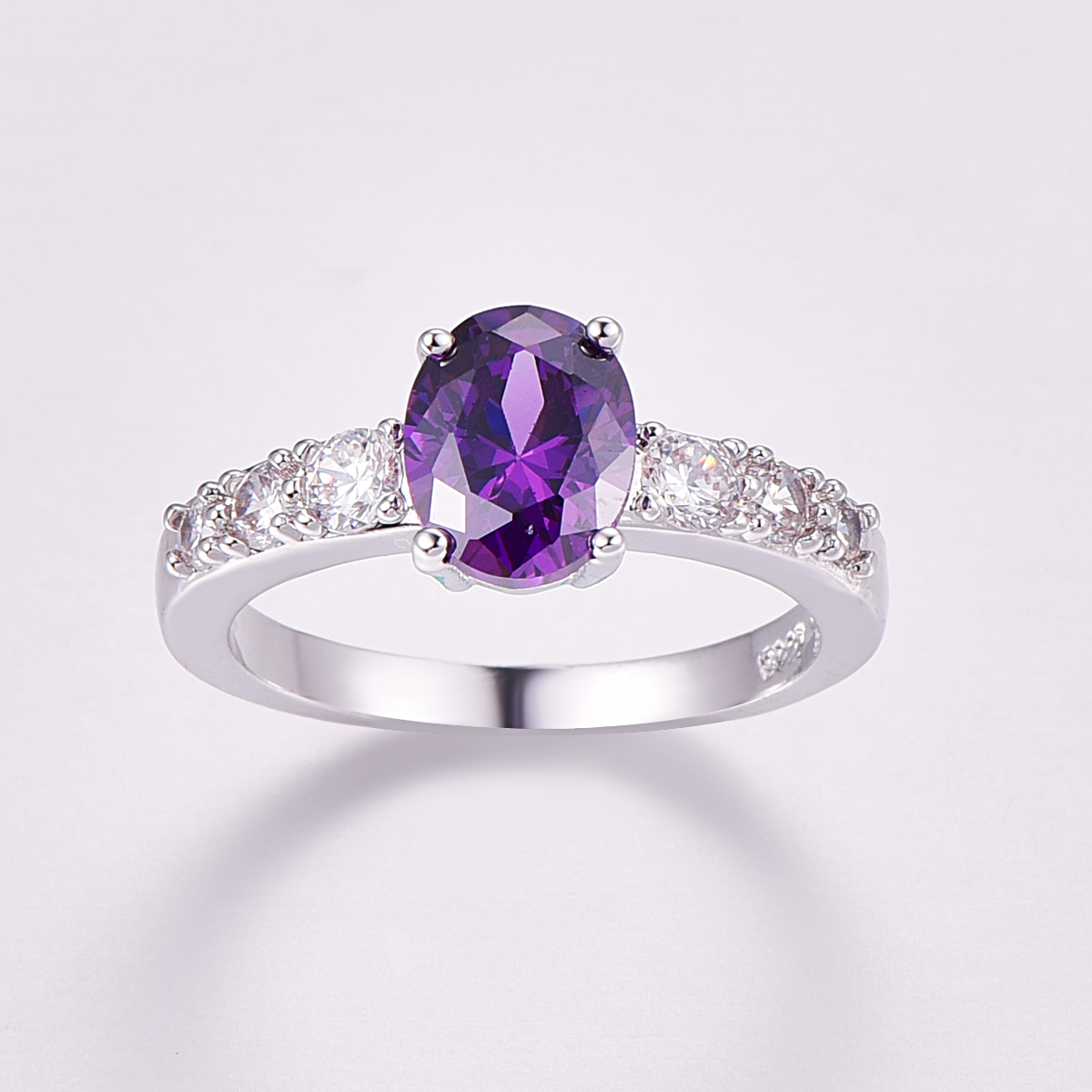 Lingmei Fashion purple Rings For Women Birthday Stone party engagement ring free shipping Size 6 7 8 9 10 11 12 13