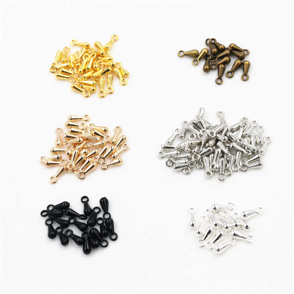 7*3mm 100pcs/Lot  6 Colors Pendant Necklace End Caps Charms For Necklace Bracelet Earrings Jewelry Findings Accessories for DIY