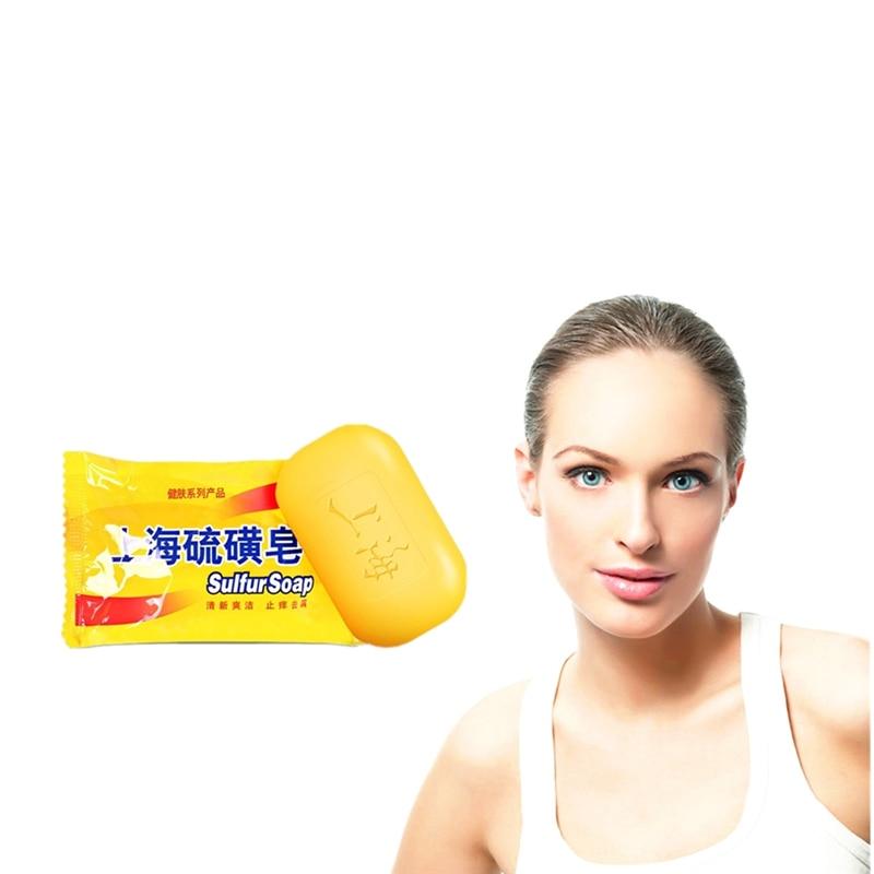 Foot Odour Bath Sulfur Soap Skin Conditions Acne Psoriasis Seborrhea Mite Anti-bacterial Anti-inflammatory Soap