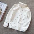 Kids cotton lovely turtlenecks t shirts Baby boy's warm T-shirt of 2015 girls autumn winter backing shirt children tops 5 colors