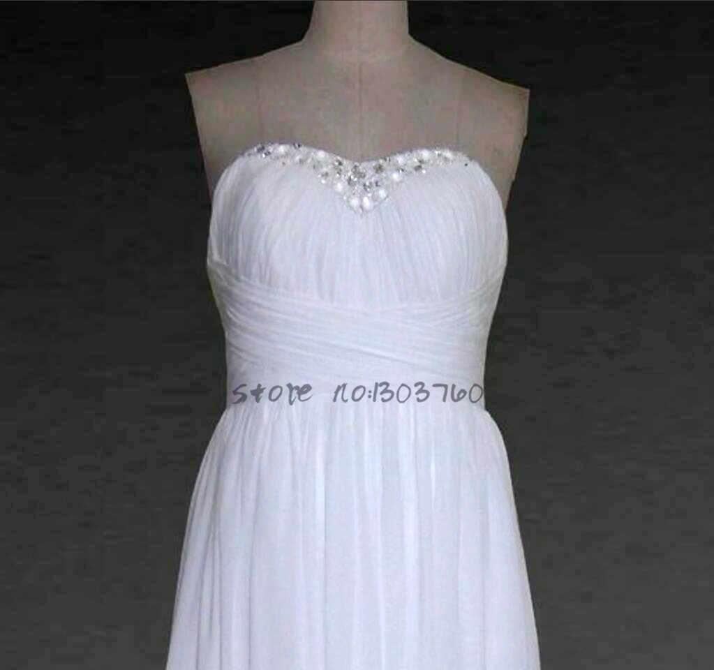シフォンvestidoデnoiva恋人床の長さボタンaライン安いウェディングドレス中国製ローブ·デ·マリアージュ2017花嫁