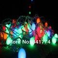 5 m 24 RGB LED Bola cadena lámparas Luces colgante garland jardín de iluminación al aire libre para la boda de Navidad Año Nuevo Luminaria