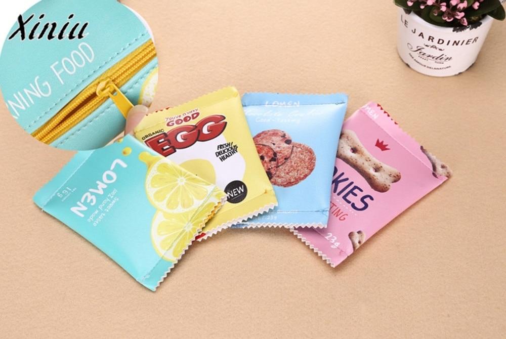 Women Girls Cute Fashion Snacks Coin Purse Wallet Bag Change Pouch Key Holder Children's wallets monedero mujer para monedas