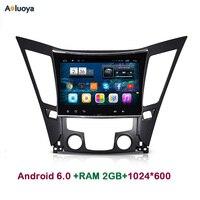 Aoluoya 2 ГБ Оперативная память Android 6.0 автомобиль DVD GPS плеер для Hyundai Sonata YF i40 i45 i50 2011 2012 2013 2014 2015 Радио головное устройство WI-FI