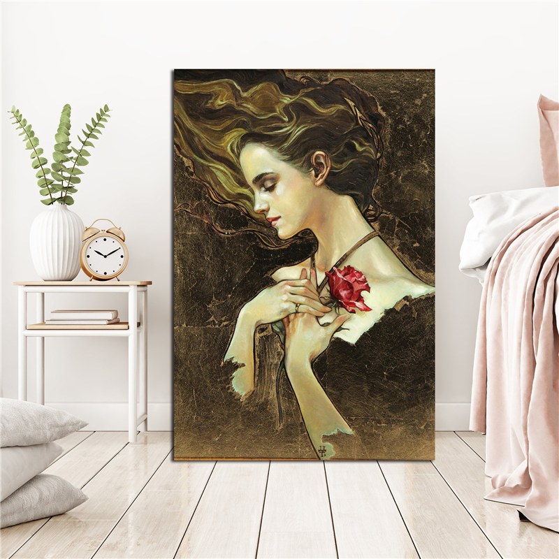 Belle Something There From Beauty And The Beast HD Canvas Posters Prints Wall Art Painting Decorative Picture Modern Home Decor