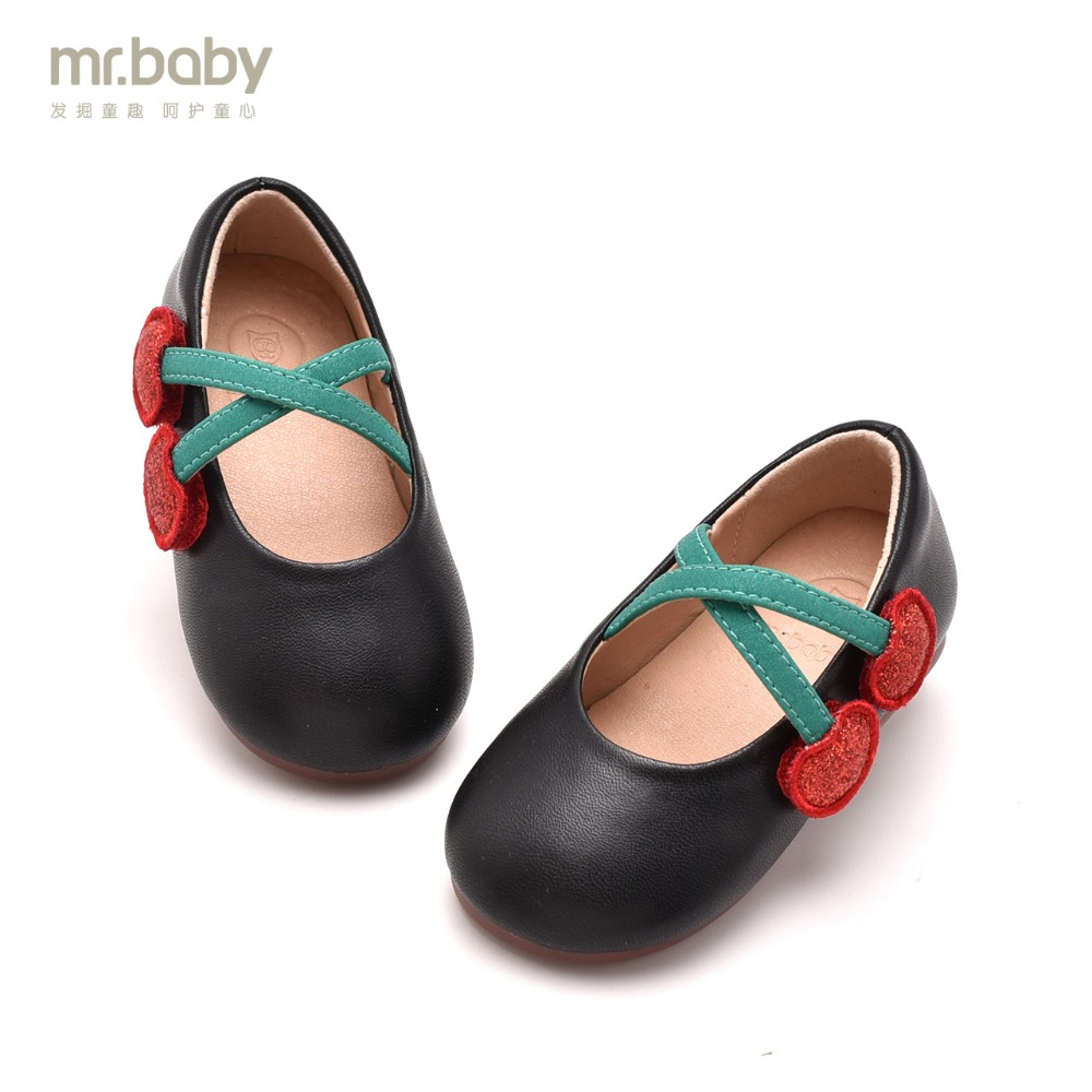 Mr.baby Original kids shoes 2018 New Spring and Autumn Cherry Sweet Contracted Baby Girl Toddler shoes