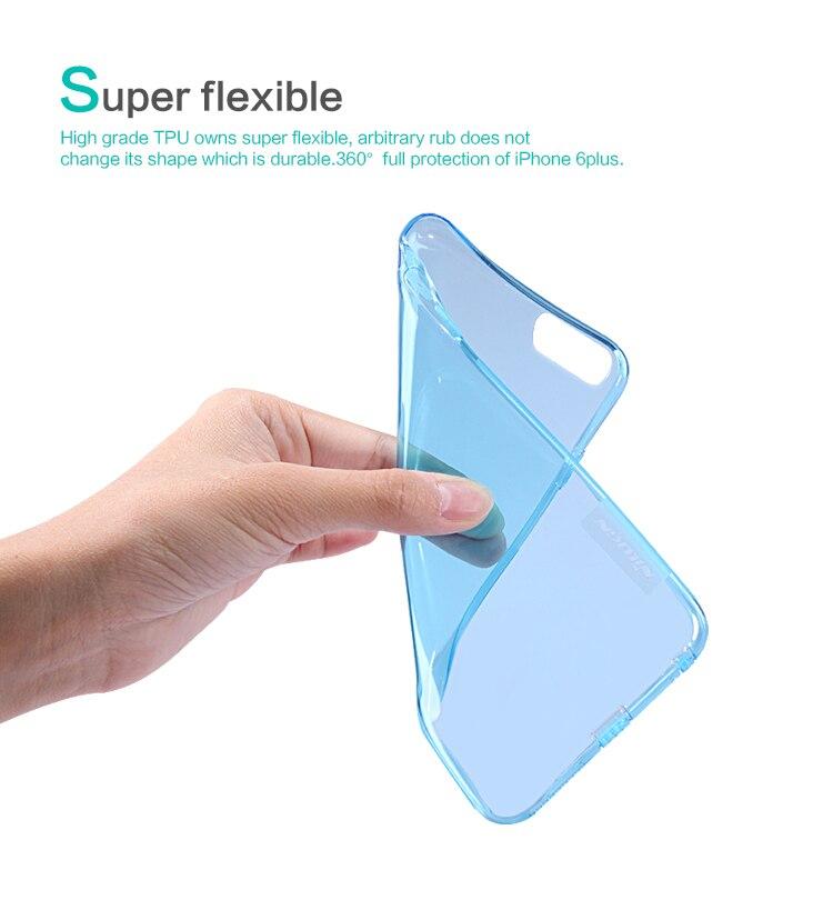 Природная сверхтонкая мягкая силиконовая TPU крышка Nillkin Кристально чистая задняя крышка для iphone 6 plus