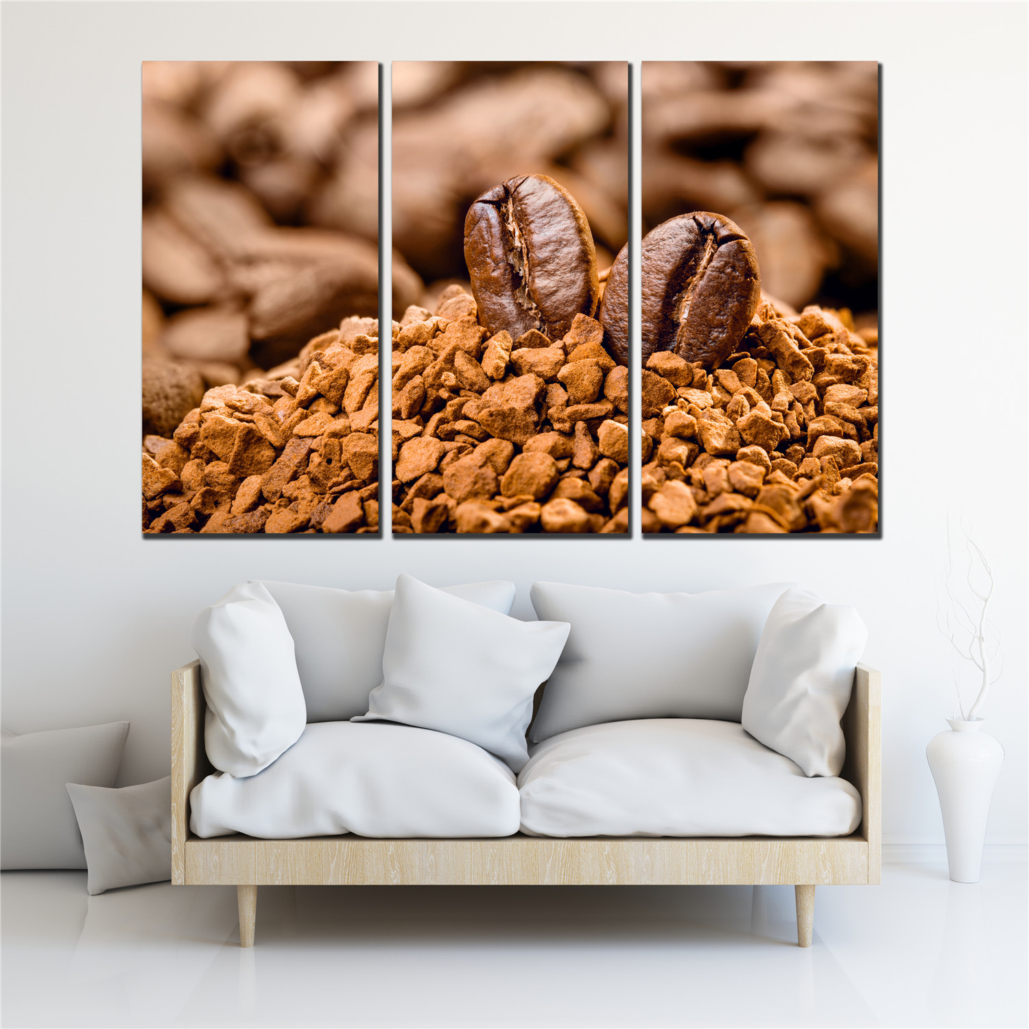3 PCS beauty coffee bean canvas print painting for living room cuadros posters vintage poster canvas art wall pictures SL-055(China)