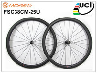 High Quality Carbon Wheelsets 38mm 25mm Clincher Rims High TG Basalt Braking Track 20H 24H UD