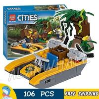 106pcs City Jungle Explorers Starter Set 10708 Model Building Blocks Police Assemble Bricks Children Toys Compatible