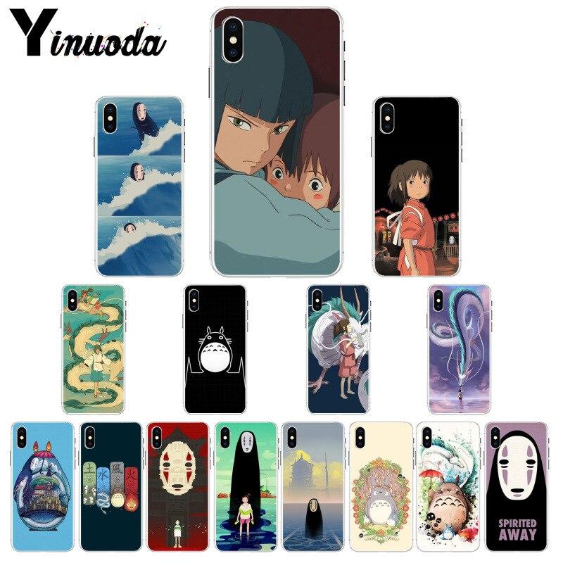 Yinuoda Cartoon Studio Ghibli Spirited Away Totoro TPU Phone Case Cover for iPhone 6S 6plus 7 7plus 8 8Plus X Xs MAX 5 5S XR