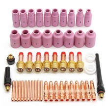 51pcs WP 17/18/26 TIG KIT & TIG Welding Torch Consumables Accessories Set Nozzles Back Caps Pyrex Glass Cups Kit for WP-17/18/26 2016 58 pcs tig welding torch consumables kit wp 17 wp 18 wp 26 wl15 lanthanated tungsten
