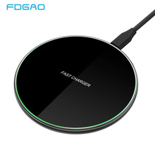 DCAE Fast 15W Qi Wireless Charger for Xiaomi Mi 9 Samsung S9 S10 Type-C USB Charger Pad 10W QC 3.0 For iPhone 11 Pro XS XR X 8(China)