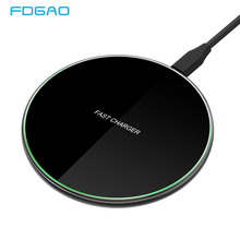 DCAE Fast 15W Qi Wireless Charger for Xiaomi Mi 9 Samsung S9 S10 Type-C USB Charger Pad 10W QC 3.0 For iPhone 11 Pro XS XR X 8