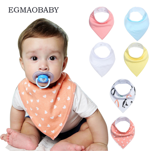 EGMAOBABY 1 pcs/lot baby bibs girl boy bandana bibs / Infant saliva towel burp cloth baby Accessories /babador/baberos bebes