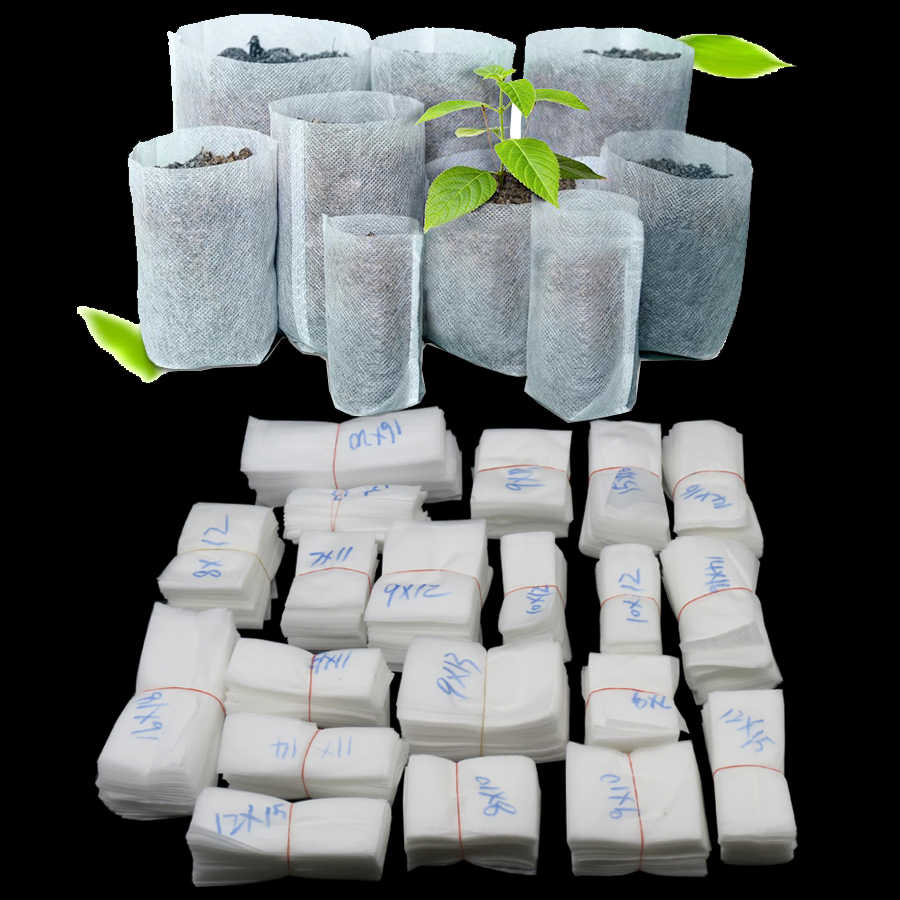 Different Sizes Biodegradable Non-woven Nursery Bags Plant Grow Bags Fabric Seedling Pots Eco-Friendly Aeration Planting Bags