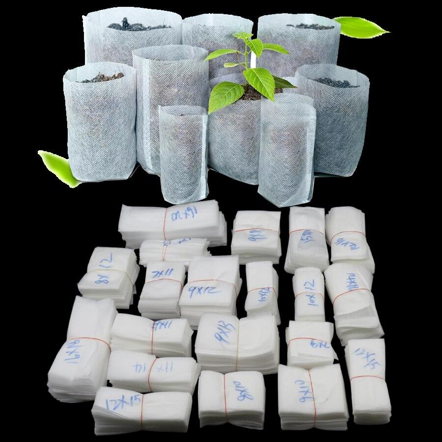 Différentes tailles biodégradable Non-tissé pépinière sacs plante cultiver des sacs en tissu semis Pots écologique aération plantation sacs