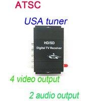 سيارة atsc usa التلفزيون الرقمي استقبال 4 إخراج الفيديو 2 إخراج الصوت يصلح لجميع car dvd player M-488X فقط بيع مع سيارتنا dvd معا