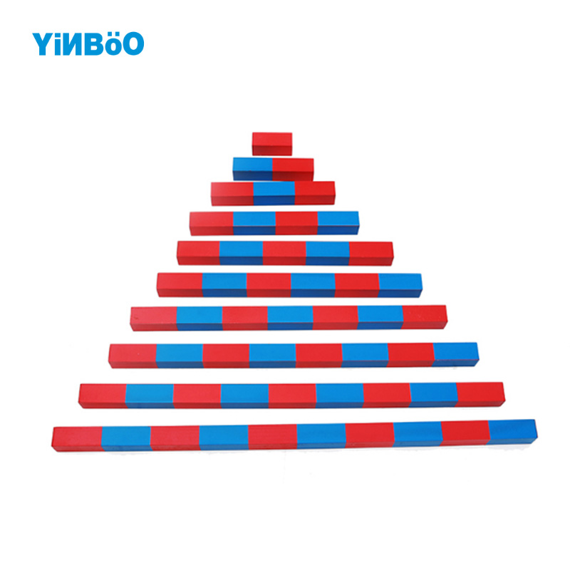 Baby Toy Small Numerical Rods Montessori Math Learning & Education Classic Wood Kids wooden block Toys Family Version