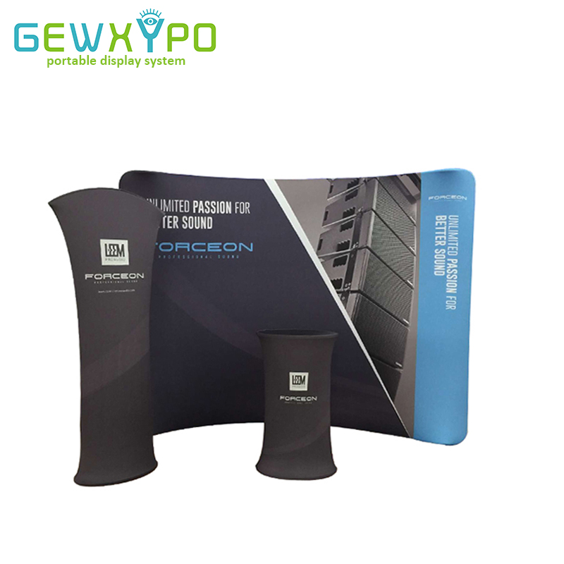 buy trade show booth portable 10ft curved tension fabric banner. Black Bedroom Furniture Sets. Home Design Ideas