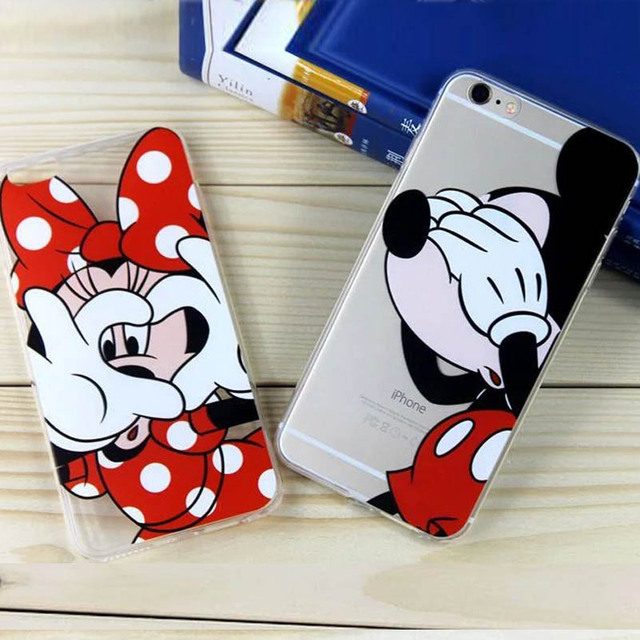 Phone Cases for Iphone 7 6s 6 Plus 6s Plus Cartoon Mickey Minnie Mouse Donald Duck Daisy Soft TPU Phone Case Covers for Iphone 7
