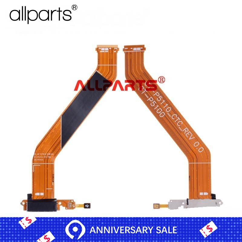 <font><b>USB</b></font> Charger Flex Cable for <font><b>SAMSUNG</b></font> Galaxy Tab 2 10.1 <font><b>P5100</b></font> P5110 GT-<font><b>P5100</b></font> <font><b>USB</b></font> Charging Port Dock Replacement image