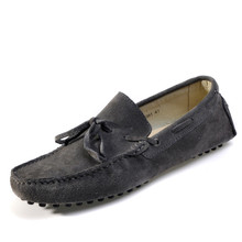 Men's Casual Suede Leather Tassel Slip-On Loafers Outdoor Low Boat Shoes Driving Car Moccasins New Brand Fashion Spring Autumn