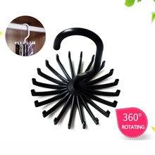 Support en plastique multifonctionnel rotatif à 360 degrés, permettant de gagner de lespace, 1 pièce, support multifonctionnel pour cravate du cou, 20 crochets