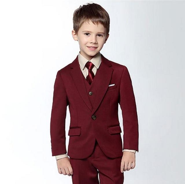 Children Formal Suit Wedding Boy Tuxedo Jacket Trousers and Vest ...