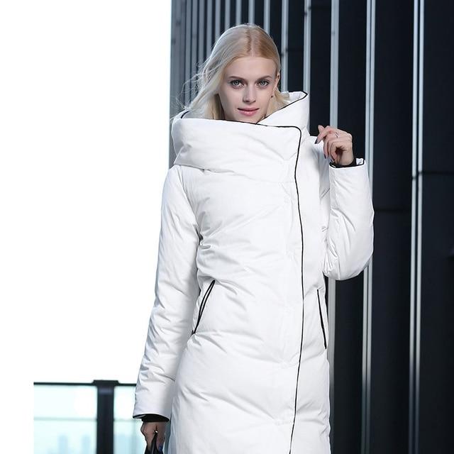 Mulheres Plus Size Moda Inverno Down Coats X-Longa Com Capuz Feminino Outerwear Grosso Magro Quente Brasão Chaqueta Mujer