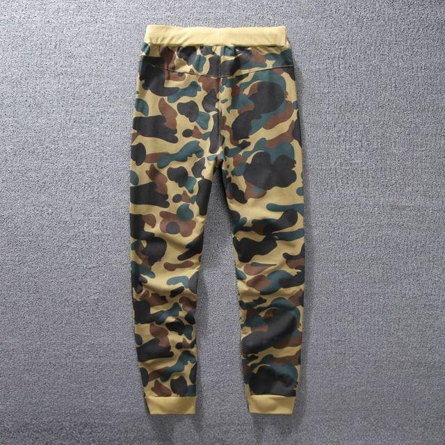 Envío gratis Thin estilo Camuflaje Corredores pantalon Hombres a casa de verano de La Cintura Elástico larga Pantalones Pista de Tiburón pantalones BP01
