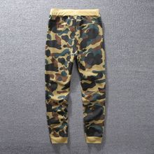 Free shipping Thin style Camouflage Joggers Elastic Waist pantalon home Men summer long Shark Trousers Track pants BP01