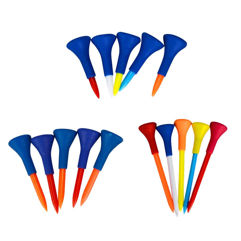 5 stück Gummi + Kunststoff Weichen Gummi Kissen Top Golf Tees Zubehör Zufällige Farbe Kurz Mittel Lang Zufällige Farbe