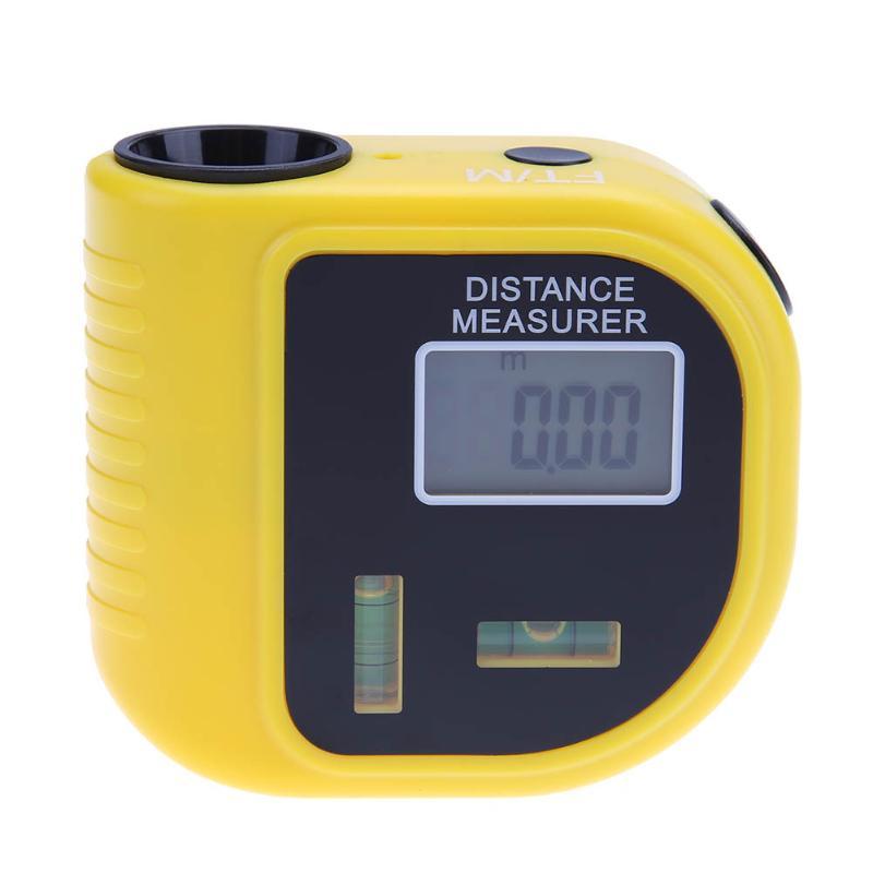 1PCS Ultrasonic Digital Rangefinder Handheld Measure Distance Meter Level Tool measurement instrument electronic tape measure lumiparty cp 3010 18m mini ultrasonic digital tape measure laser rangefinder ultrasonic distance pointer rangefinder level tool