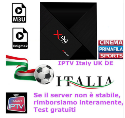 OTT IPTV X99 Ultra HD 4K With 1 Year ItalyTV RK3399 Android 7.1 Italy IPTV EPG 4000+Live+VOD configured Europe Albania ex-yu XX italy iptv 1 year included nexbox a95x a1 android tv italy iptv epg 4000 live vod configured europe albania ex yu xxx channe