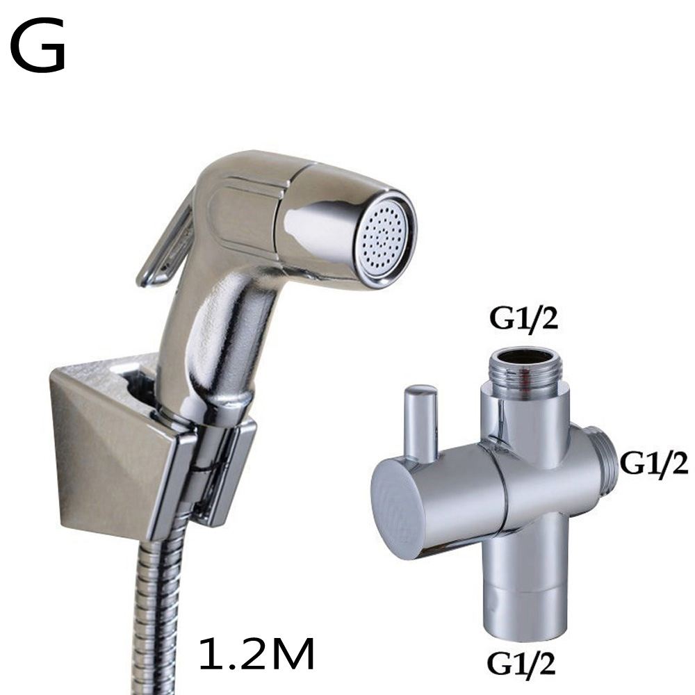 Toilet Adapter Spray Handheld Bidet Shower Head Wall Bracket Hose Kit Home Parts